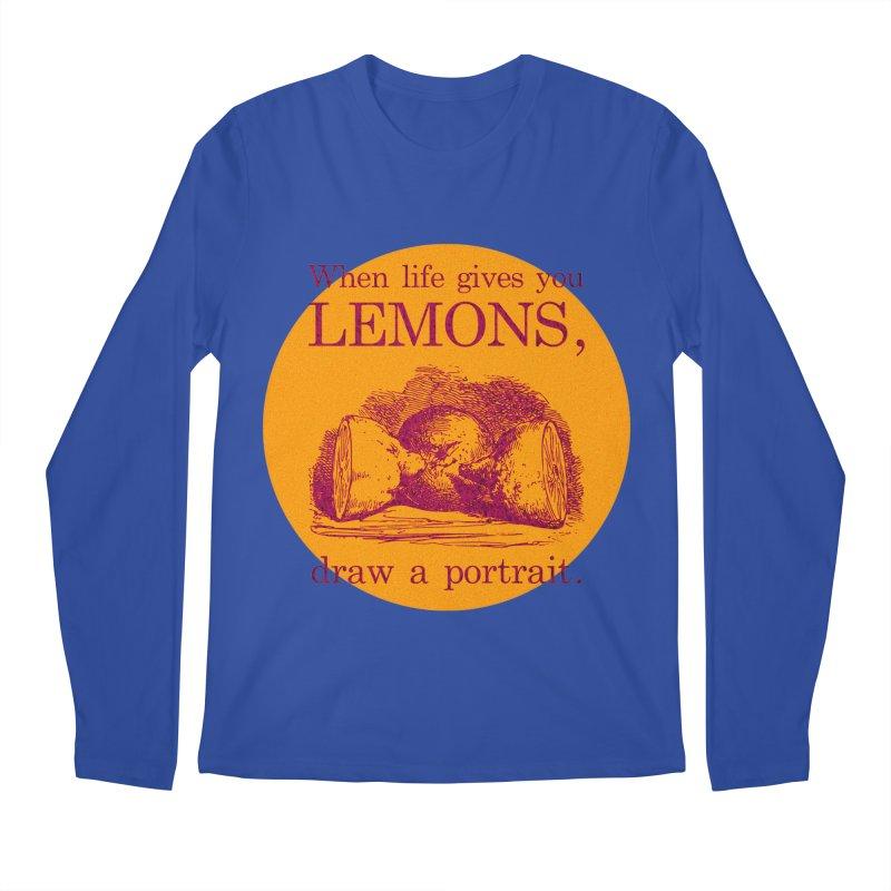 When Life Gives You Lemons, Draw A Portrait Men's Regular Longsleeve T-Shirt by navjinderism's Artist Shop