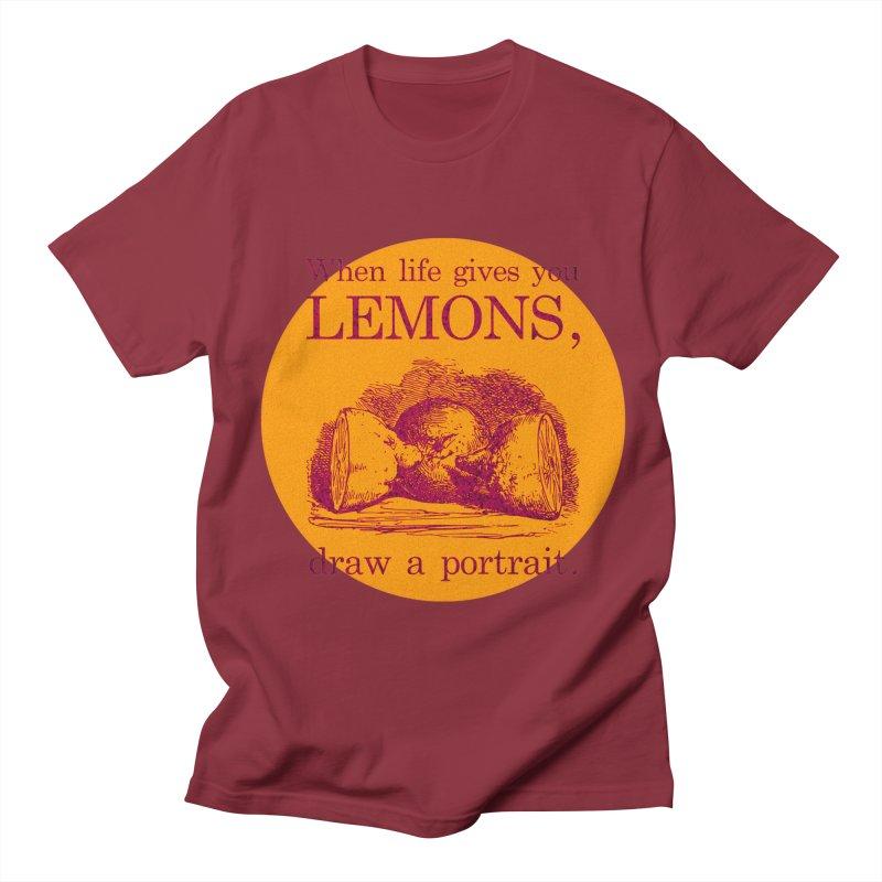 When Life Gives You Lemons, Draw A Portrait Women's Regular Unisex T-Shirt by navjinderism's Artist Shop