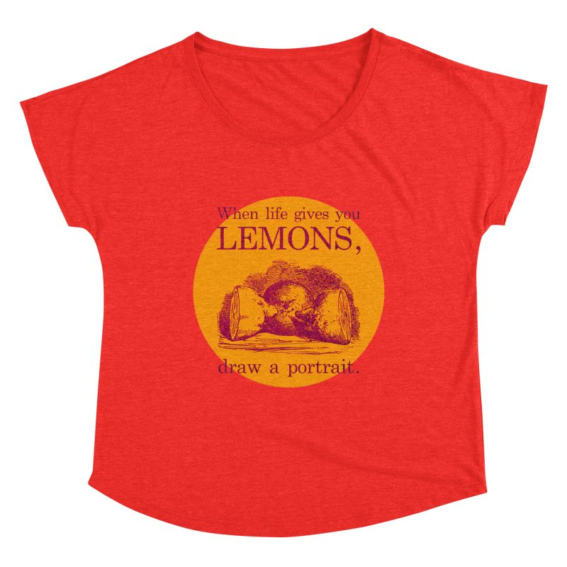 When Life Gives You Lemons, Draw A Portrait Women's Scoop Neck by navjinderism's Artist Shop