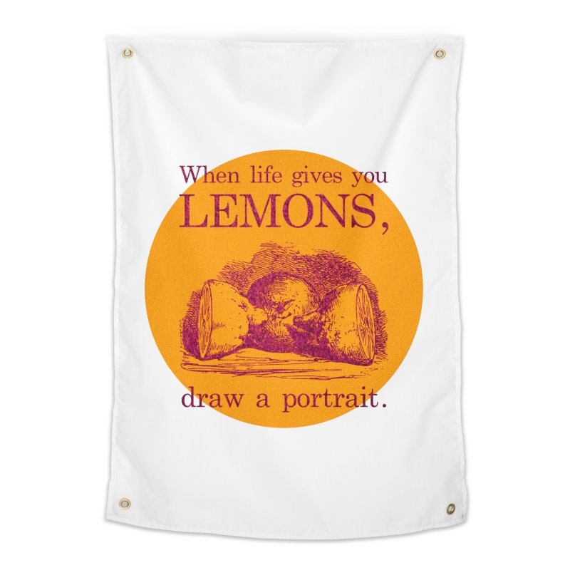 When Life Gives You Lemons, Draw A Portrait Home Tapestry by navjinderism's Artist Shop