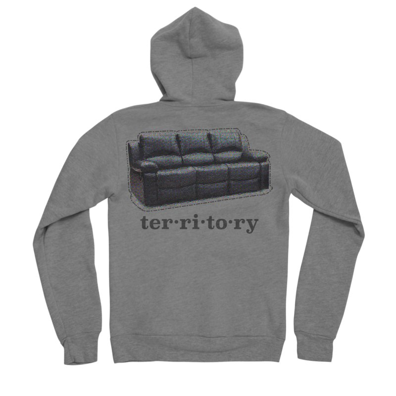 Territory Men's Sponge Fleece Zip-Up Hoody by navjinderism's Artist Shop