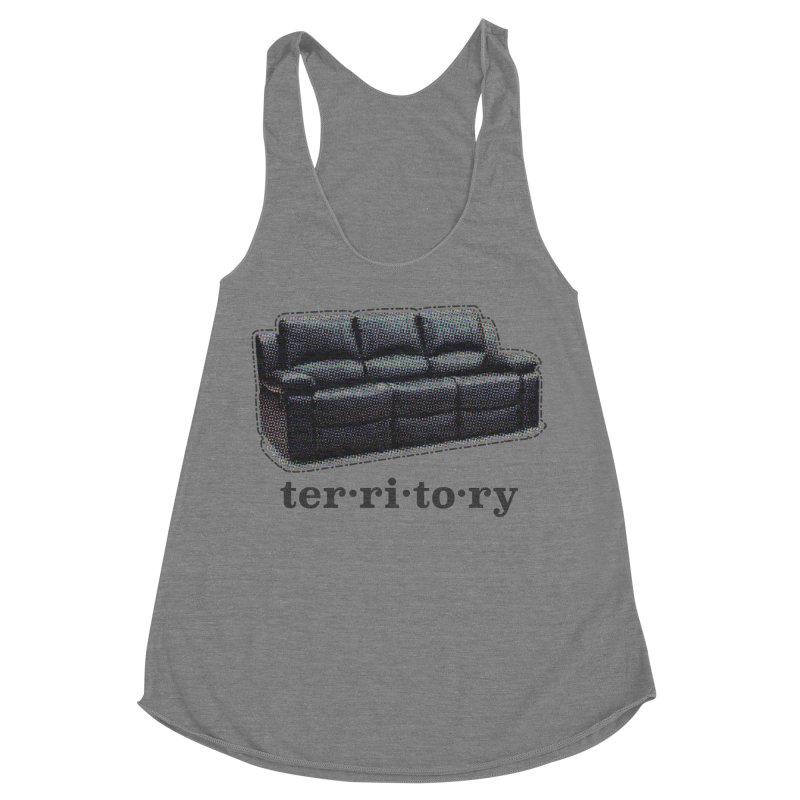 Territory Women's Racerback Triblend Tank by navjinderism's Artist Shop