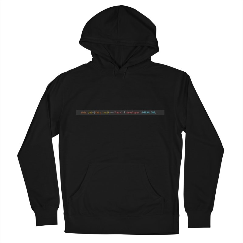 DREAM_JOB Men's French Terry Pullover Hoody by navjinderism's Artist Shop