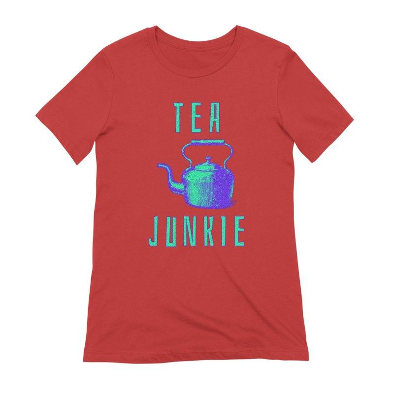 Tea Junkie Women's Extra Soft T-Shirt by navjinderism's Artist Shop