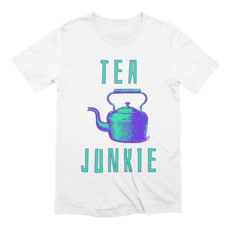 Tea Junkie Men's Extra Soft T-Shirt by navjinderism's Artist Shop