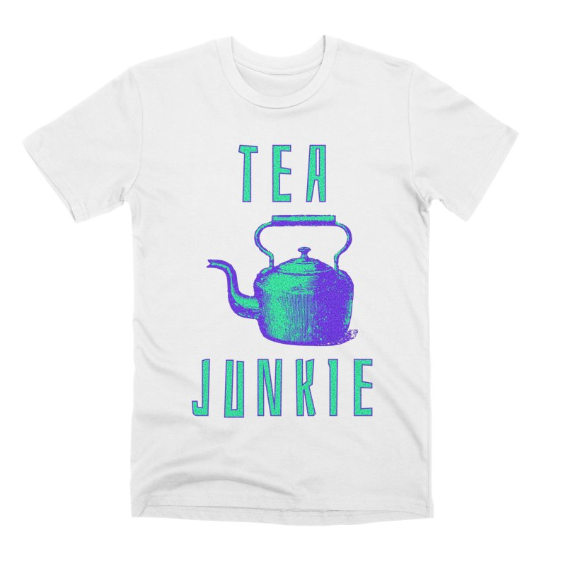 Tea Junkie Men's T-Shirt by navjinderism's Artist Shop