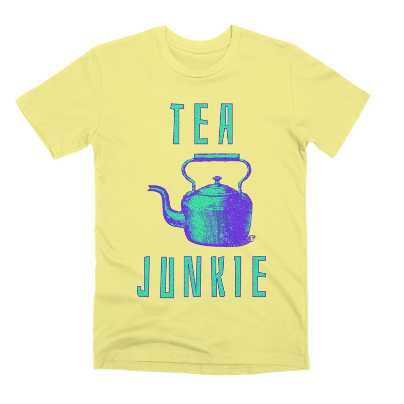 Tea Junkie Men's Premium T-Shirt by navjinderism's Artist Shop