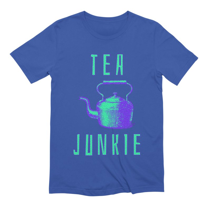 Tea Junkie Men's Extra Soft T-Shirt by navjinderism's Artist Shop