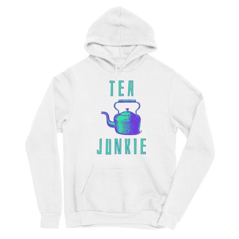 Tea Junkie Men's Pullover Hoody by navjinderism's Artist Shop