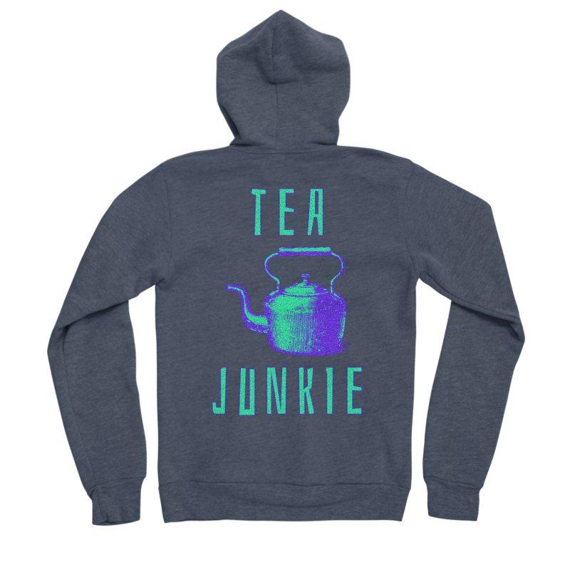 Tea Junkie Men's Sponge Fleece Zip-Up Hoody by navjinderism's Artist Shop