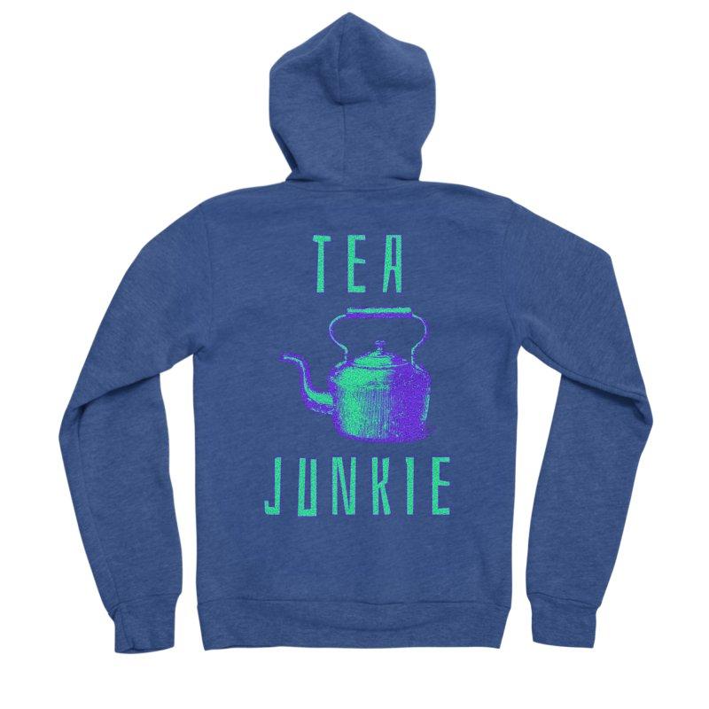 Tea Junkie Women's Sponge Fleece Zip-Up Hoody by navjinderism's Artist Shop