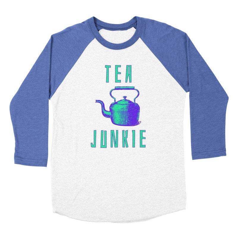 Tea Junkie Women's Longsleeve T-Shirt by navjinderism's Artist Shop