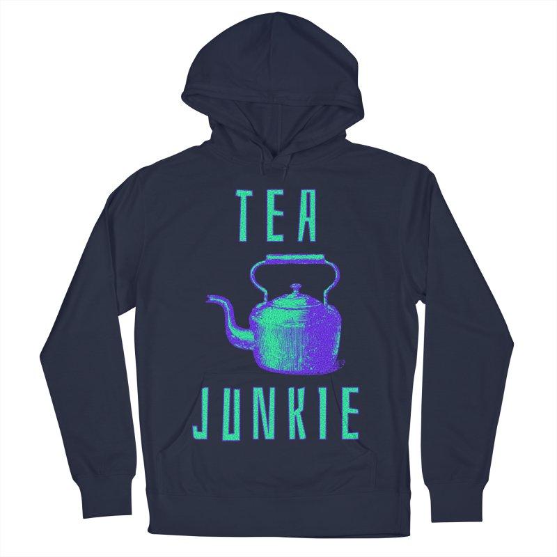 Tea Junkie Men's French Terry Pullover Hoody by navjinderism's Artist Shop