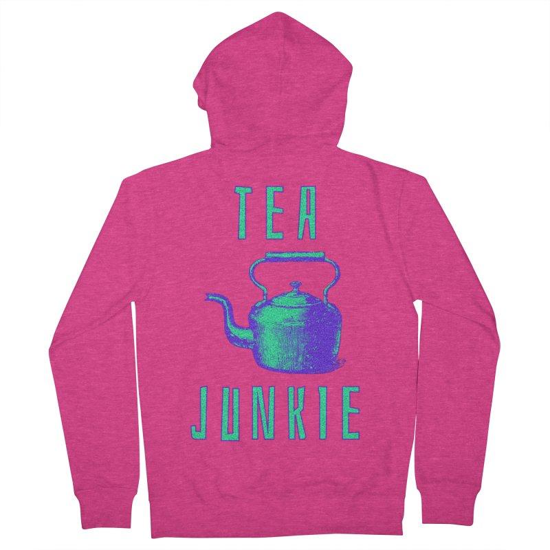 Tea Junkie Women's French Terry Zip-Up Hoody by navjinderism's Artist Shop