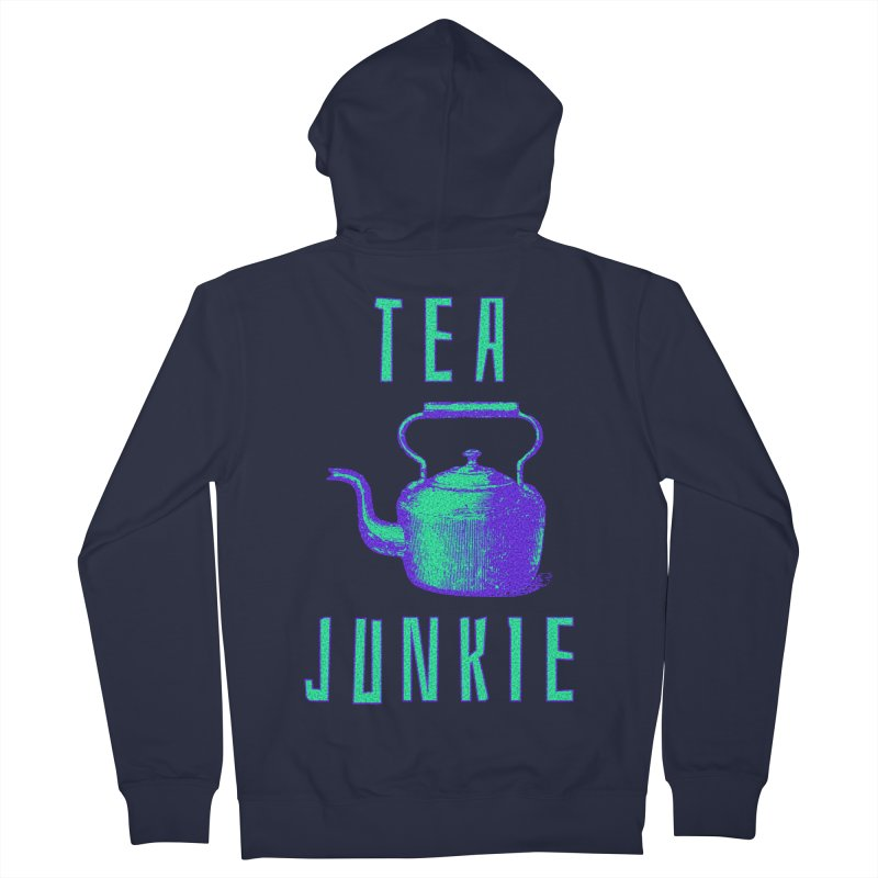 Tea Junkie Women's Zip-Up Hoody by navjinderism's Artist Shop