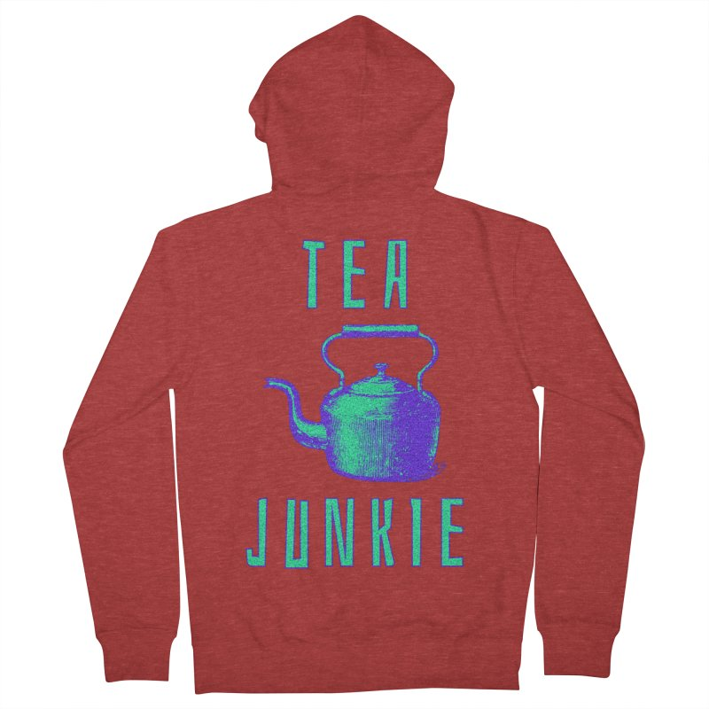 Tea Junkie Men's French Terry Zip-Up Hoody by navjinderism's Artist Shop