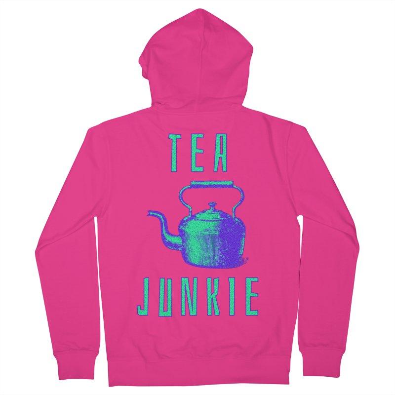 Tea Junkie Men's French Terry Zip-Up Hoody by navjinderism's Artist Shop