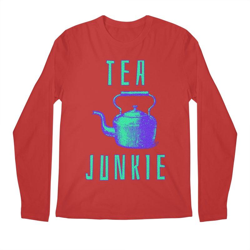 Tea Junkie Men's Regular Longsleeve T-Shirt by navjinderism's Artist Shop