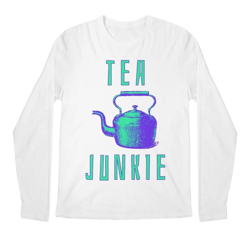 Tea Junkie Men's Longsleeve T-Shirt by navjinderism's Artist Shop