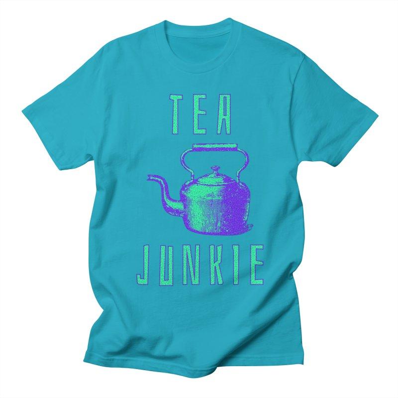 Tea Junkie Men's T-Shirt by navjinderism's Artist Shop