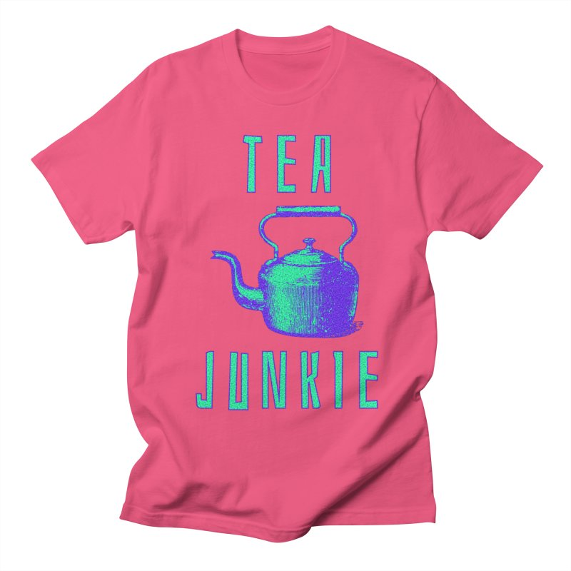 Tea Junkie Men's Regular T-Shirt by navjinderism's Artist Shop