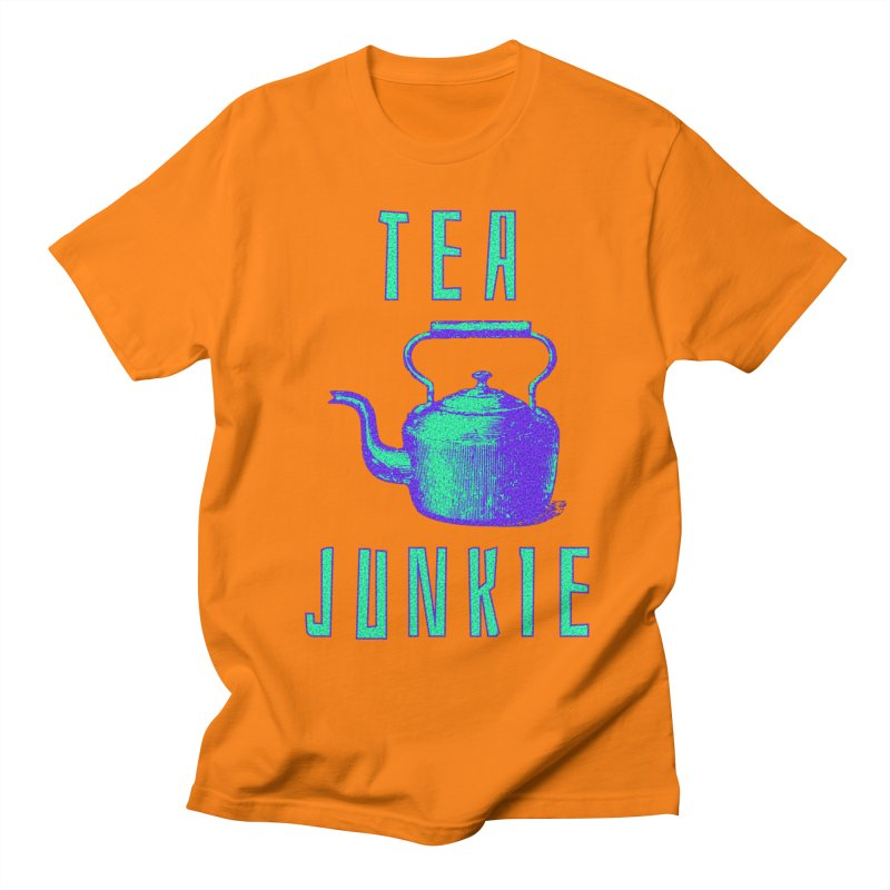 Tea Junkie Men's Regular T-Shirt by navjinderism's Artist Shop