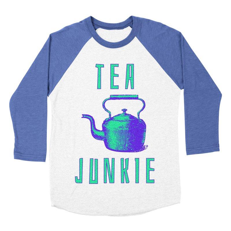 Tea Junkie Women's Baseball Triblend Longsleeve T-Shirt by navjinderism's Artist Shop
