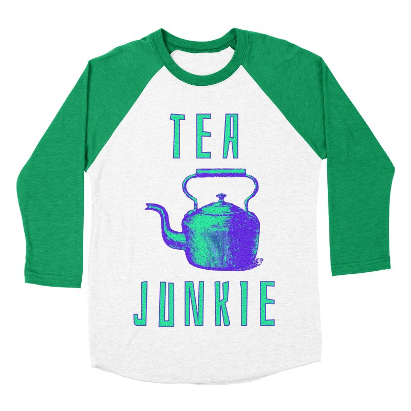 Tea Junkie Women's Baseball Triblend Longsleeve T-Shirt by navjinderism's Artist Shop