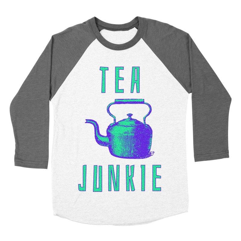 Tea Junkie Men's Baseball Triblend Longsleeve T-Shirt by navjinderism's Artist Shop