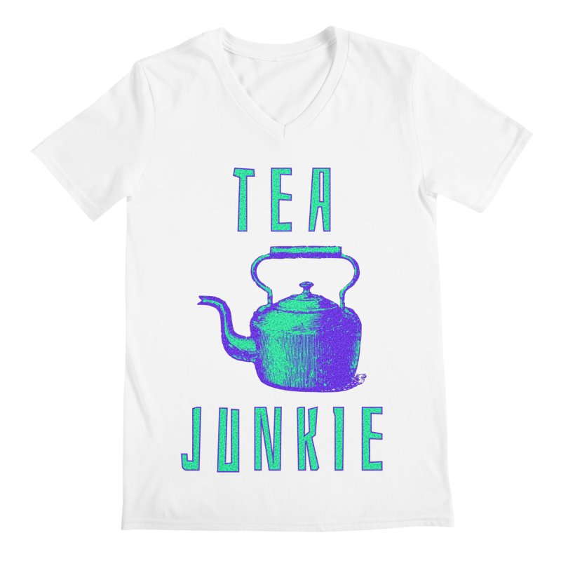 Tea Junkie Men's V-Neck by navjinderism's Artist Shop