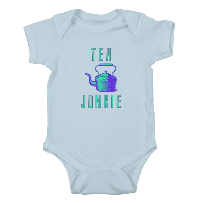 Tea Junkie Kids Baby Bodysuit by navjinderism's Artist Shop
