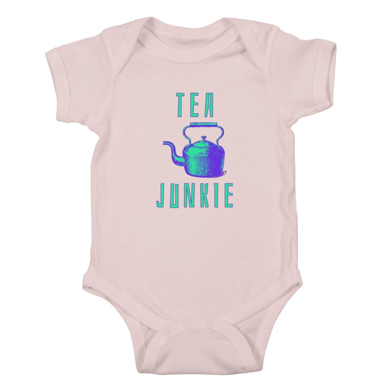 Tea Junkie Kids Baby Bodysuit by navjinderism's Artist Shop