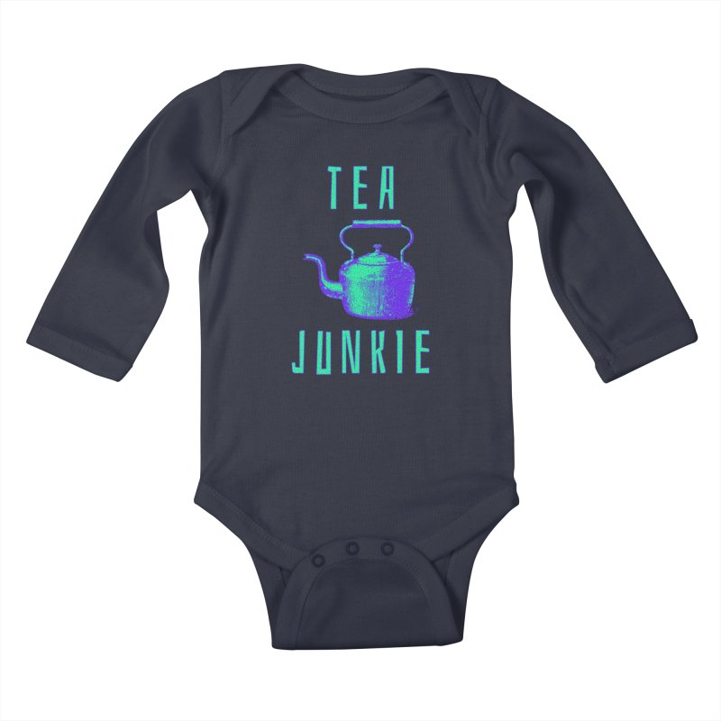 Tea Junkie Kids Baby Longsleeve Bodysuit by navjinderism's Artist Shop