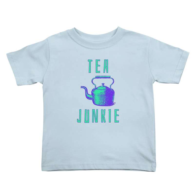 Tea Junkie Kids Toddler T-Shirt by navjinderism's Artist Shop