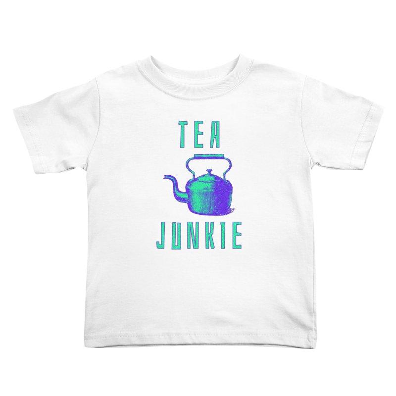 Tea Junkie Kids Toddler T-Shirt by navjinderism's Artist Shop