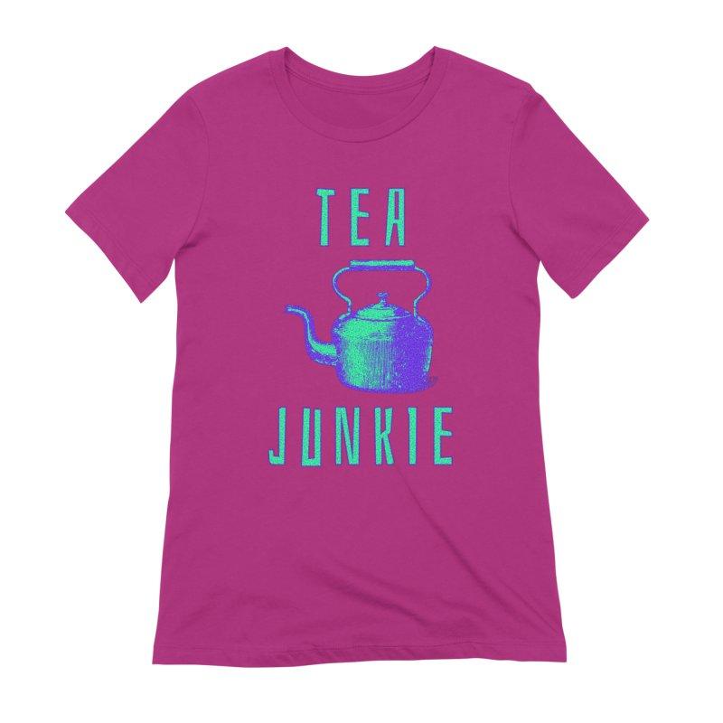 Tea Junkie Women's T-Shirt by navjinderism's Artist Shop