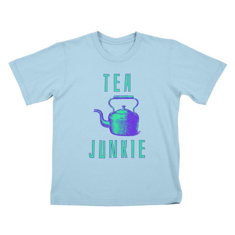 Tea Junkie Kids T-Shirt by navjinderism's Artist Shop