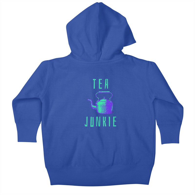 Tea Junkie Kids Baby Zip-Up Hoody by navjinderism's Artist Shop