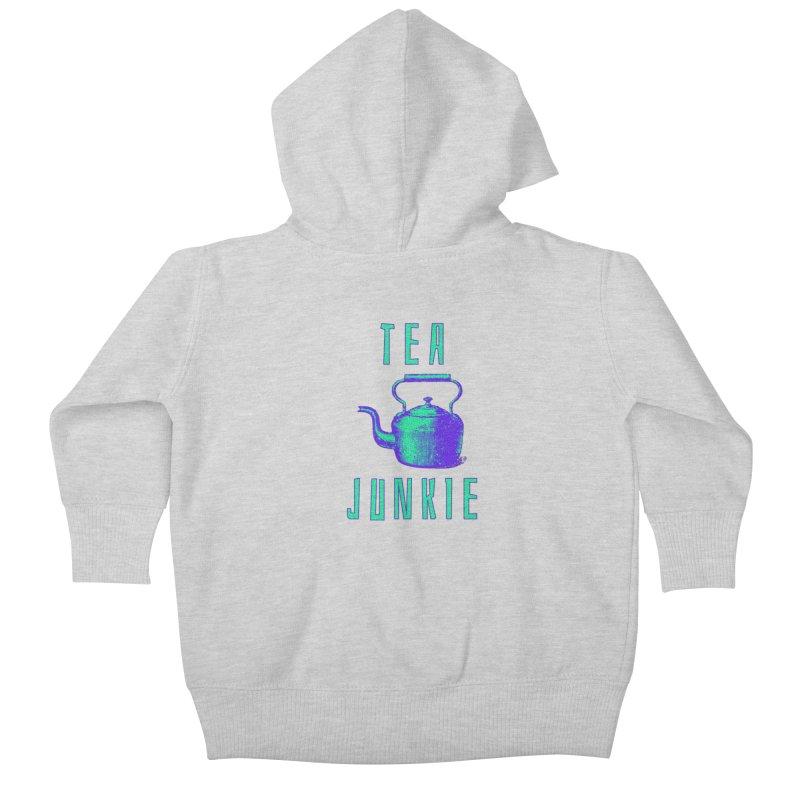Tea Junkie Kids Baby Zip-Up Hoody by navjinderism's Artist Shop