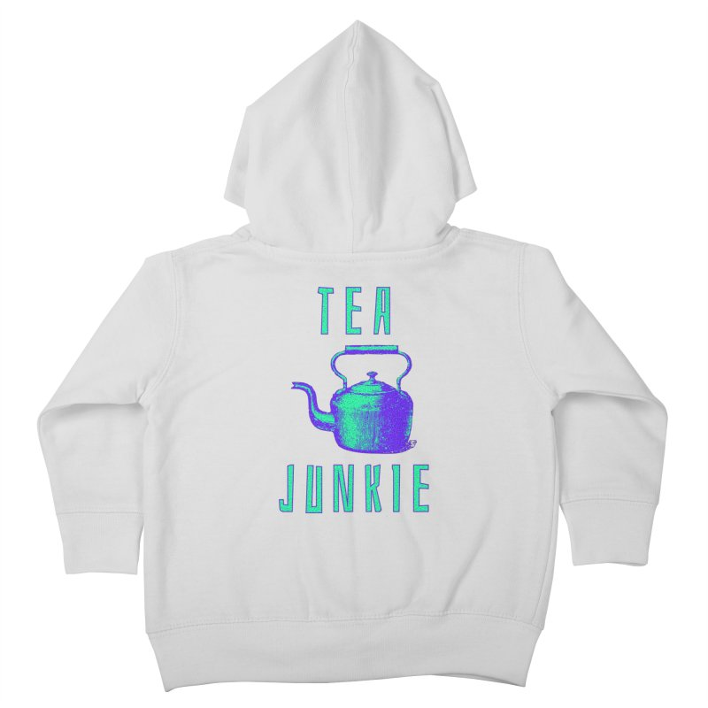 Tea Junkie Kids Toddler Zip-Up Hoody by navjinderism's Artist Shop