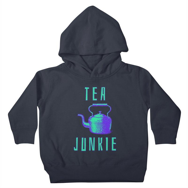 Tea Junkie Kids Toddler Pullover Hoody by navjinderism's Artist Shop