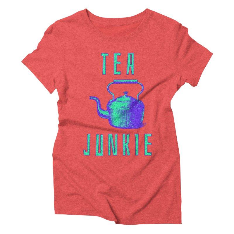 Tea Junkie Women's Triblend T-Shirt by navjinderism's Artist Shop