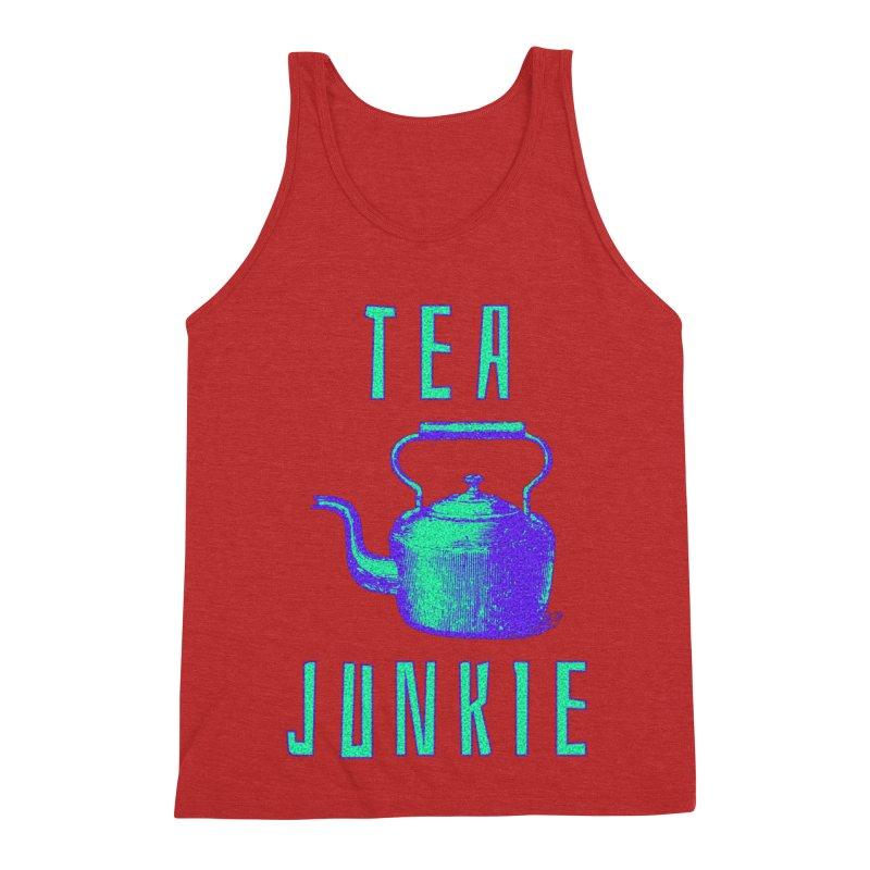 Tea Junkie Men's Triblend Tank by navjinderism's Artist Shop