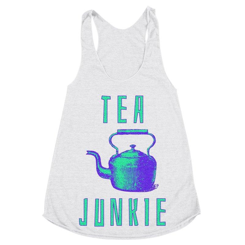 Tea Junkie Women's Racerback Triblend Tank by navjinderism's Artist Shop