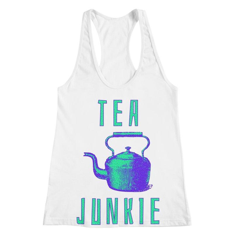 Tea Junkie Women's Racerback Tank by navjinderism's Artist Shop