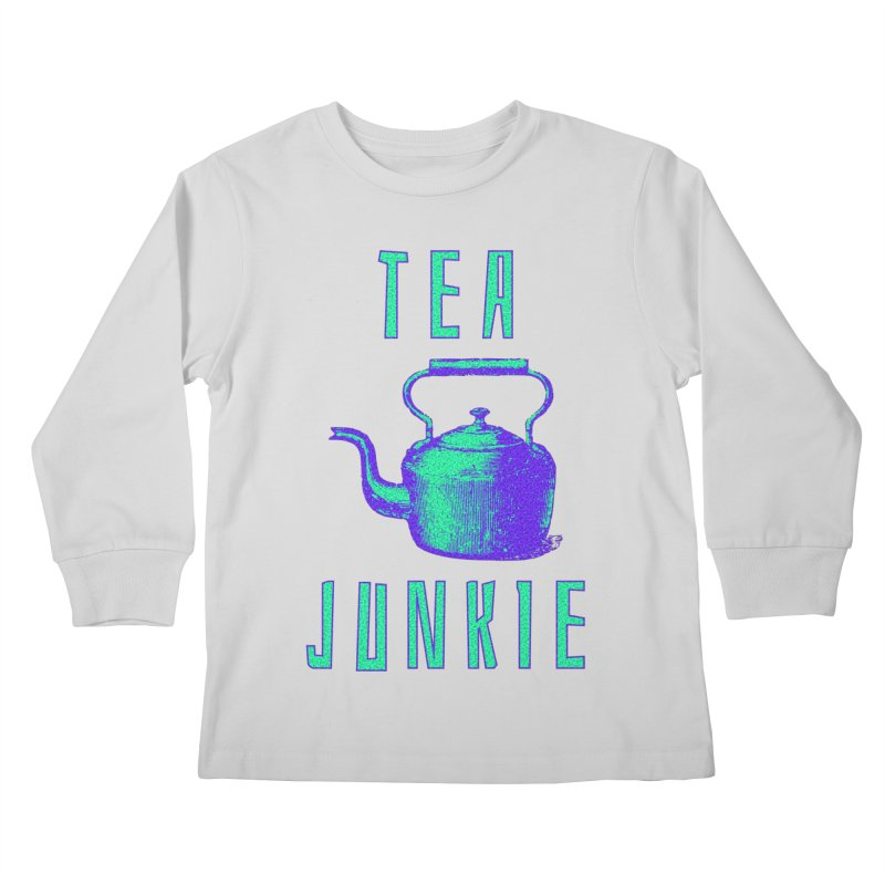 Tea Junkie Kids Longsleeve T-Shirt by navjinderism's Artist Shop