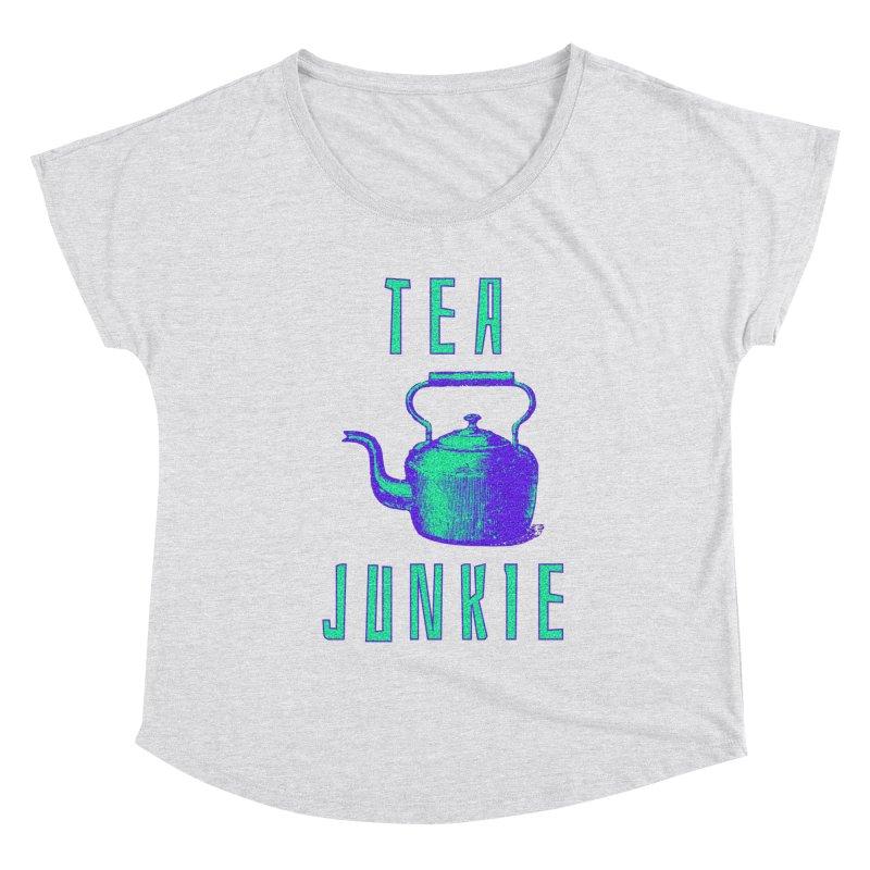 Tea Junkie Women's Scoop Neck by navjinderism's Artist Shop