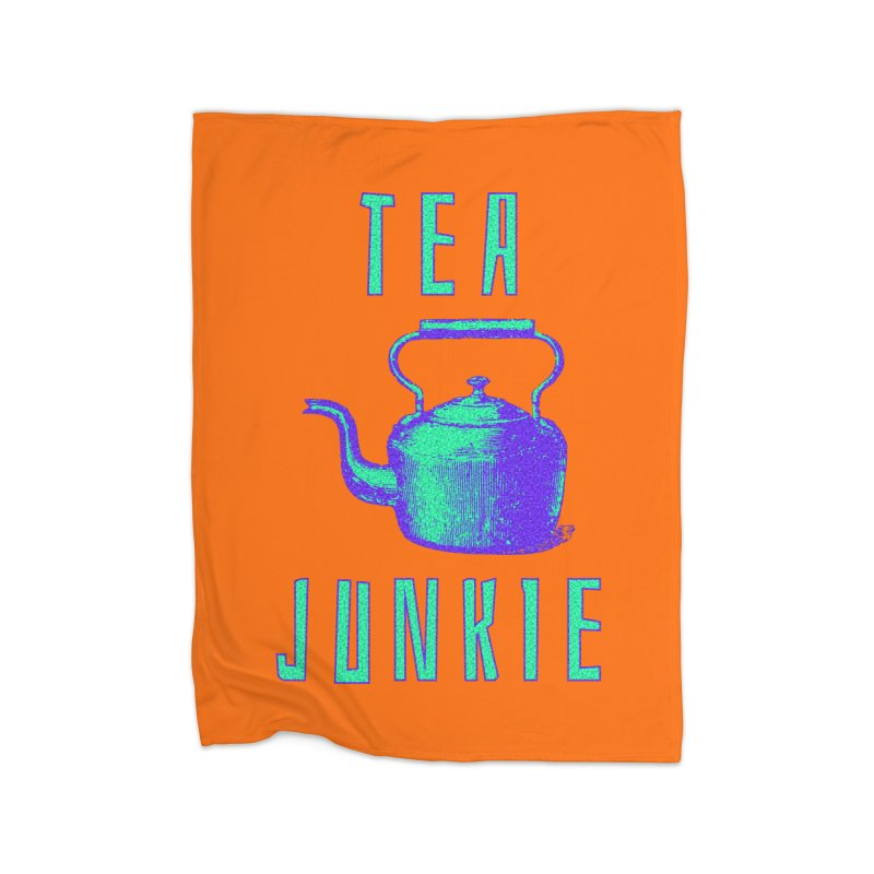 Tea Junkie Home Fleece Blanket Blanket by navjinderism's Artist Shop