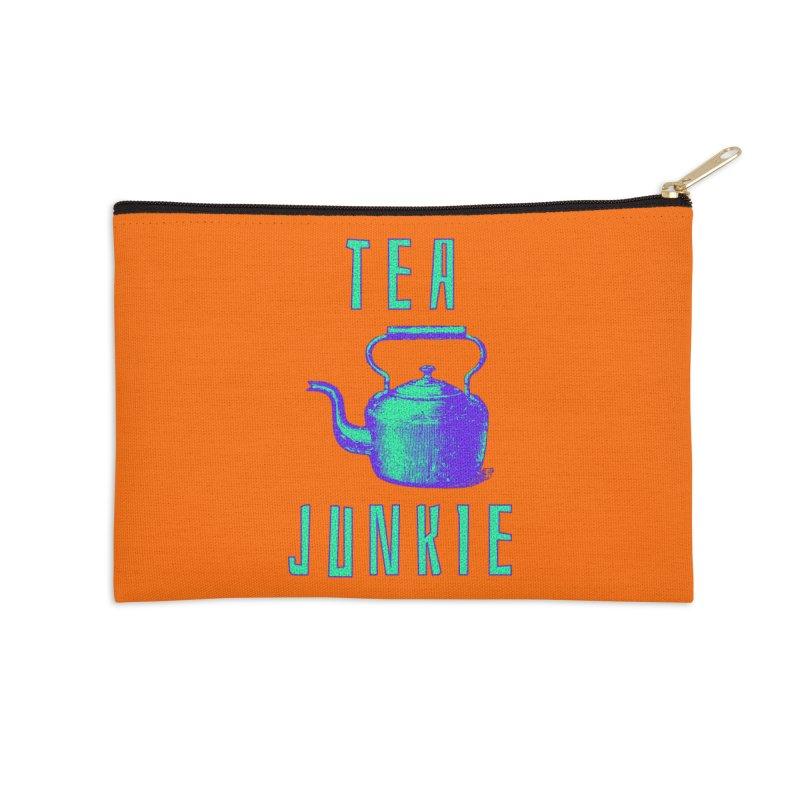 Tea Junkie Accessories Zip Pouch by navjinderism's Artist Shop