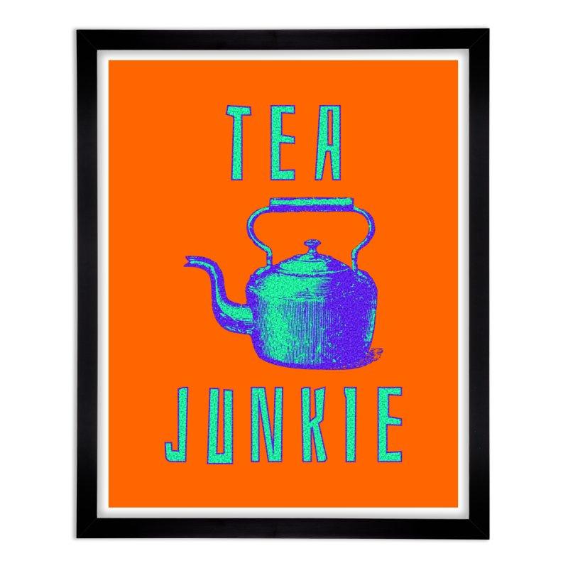 Tea Junkie Home Framed Fine Art Print by navjinderism's Artist Shop